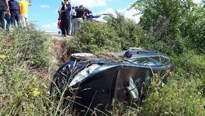 Tarsustaki trafik kazasında 4 kişilik aile ölümden döndü