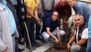 Kuladaki din görevlileri cami bahçelerine 200 fidan dikti