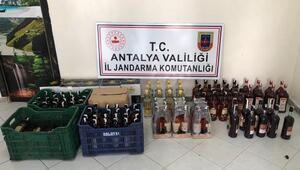 Manavgatta kaçak içki operasyonu