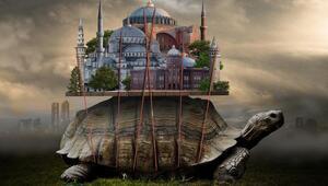 İstanbulun simgelerini fantastik tasarımlarla anlatıyor