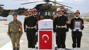 Kazada şehit olan asker, törenle uğurlandı