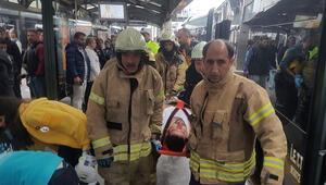 Son dakika: Haramiderede metrobüs kazası