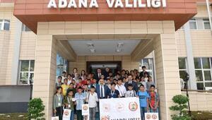 Şanlıurfadan gelen öğrencilerden Vali Demirtaşa ziyaret