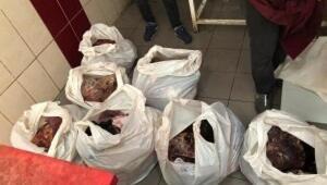 Diyarbakırda bozuk 500 kilo et ele geçirildi