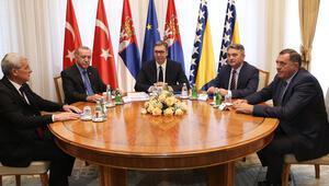 Cumhurbaşkanı Erdoğan, Türkiye-Sırbistan-Bosna Hersek Üçlü Zirve Toplantısı'na katıldı