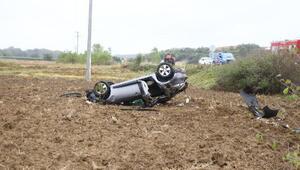 Hayraboluda trafik kazası: 2 yaralı