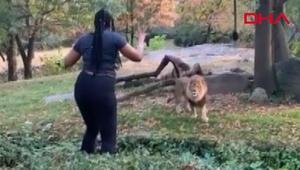 Hayvanat bahçesinde korkutan anlar