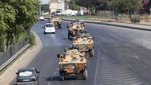 Gaziantepten 120 araçlık askeri konvoy yola çıktı