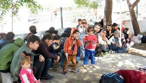 Çanakkalede 190 göçmen yakalandı