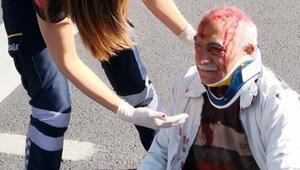 Kazada yaralanan yaşlı adam polise bisikletini sordu