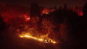 ABDde kontrol altına alınamayan yangın nedeniyle tahliye emri verildi