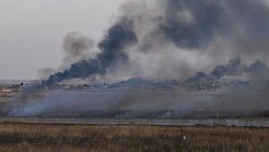 Tel Abyaddaki terör hedefleri obüs atışlarıyla vuruluyor