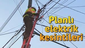 11 Ekim Cuma günü elektrik kesintileri... Elektrikler ne zaman gelecek