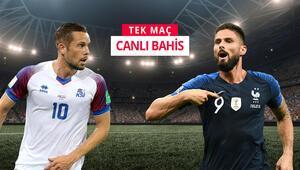 Eksik Fransa, İzlanda deplasmanında 3 puan peşinde iddaada öne çıkan...