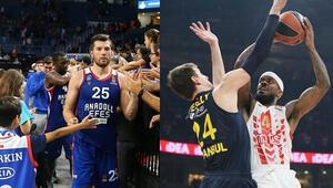 Anadolu Efes uzatma güldü, Fenerbahçe Beko 15. sıraya geriledi
