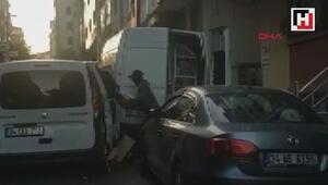 Hırsızları atılan kova, tabure ve bidon da durduramadı