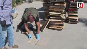 Arı kovanları içinde preslenmiş 152 kg eroin ele geçirildi