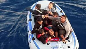 Bodrum açıklarında 18 kaçak göçmen yakalandı