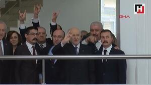 Devlet Bahçeli MHP Genel Merkezinde