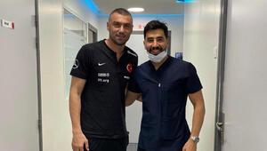 Burak Yılmaza maç öncesi müdahele: İyi ki Türk dişçisi var