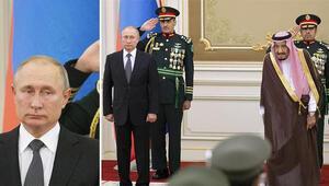 Suudi Arabistan ordusunun Rus marşı performansı Putini şaşkına çevirdi