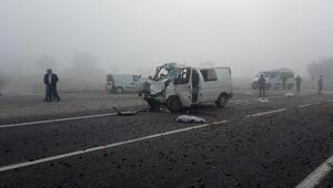Bursada yoğun sis kazası