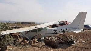 Antalyada sivil eğitim uçağı kaza yaptı