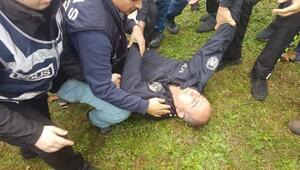Sapancada polisle teleferik eylemcileri arasında arbede