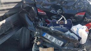 Esenyurt Tem Otoyolundaki kaza trafiğe neden oldu