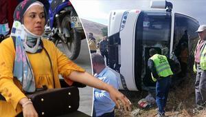 Afyonkarahisarda turist otobüsü devrildi: 1 ölü, 30 yaralı