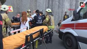 Başakşehirde işçi servisi kaza yaptı