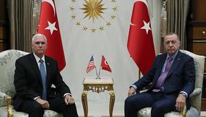 Cumhurbaşkanı Erdoğan ile ABD Başkan Yardımcısı Pencein görüşmesi başladı