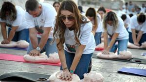 Büyükşehir'den Taşköprü üzerinde can kurtarma eğitimi