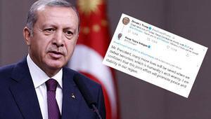 Erdoğandan Trumpa cevap: Terörü yendiğimizde daha fazla hayat kurtulacak