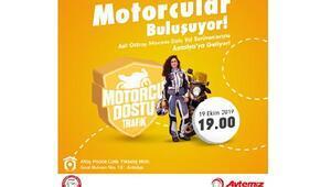 'Motorcu Dostu Trafik' projesi Antalya'da devam ediyor