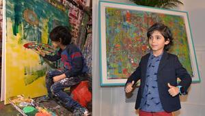 Henüz 7 yaşında Şimdiye kadar 90 tablosu satıldı