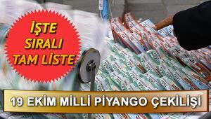 19 Ekim Milli Piyango çekiliş sonucu sorgulama... MPİ sonuçları ve sıralı tam liste