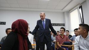 Cumhurbaşkanı Erdoğan, Kayseride okul açılışı gerçekleştirdi