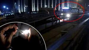 İstanbul'da şoke eden olay E-5'te attı, otobüsün altında patladı…