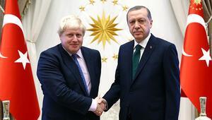 Son dakika... Cumhurbaşkanı Erdoğan Birleşik Krallık Başbakanı Johnson ile görüştü