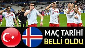 Türkiye İzlanda milli maçı ne zaman
