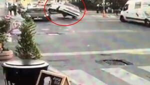İstanbul'da akıl almaz kaza Görenler inanamadı...