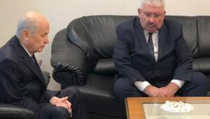 MHP Genel Başkanı Bahçeliden Semih Yalçına taziye ziyareti