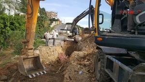Alanyada kanalizasyon hattı yenilendi