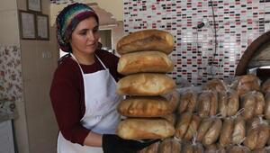 14 fırında kadın ustalar çalışıyor, günde 14 bin ekmek üretiliyor