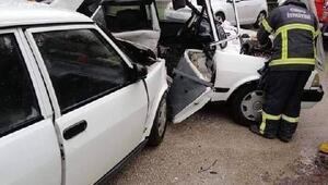 Ordu'da iki otomobil çarpıştı: 1 ölü, 2 yaralı