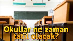 Okullar ne zaman tatil olacak.. 2019 MEB yarıyıl tatil takvimi