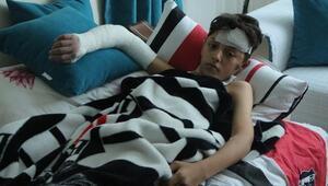 Beyoğlunda arkadaşının itmesi sonucu yaralanan çocuk: Park istiyoruz