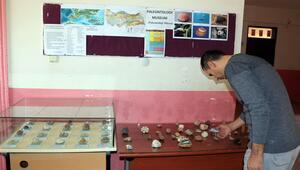 Bulduğu taşlar fosil çıktı, okula müze açtı