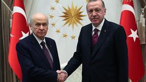 Cumhurbaşkanı Erdoğandan Bahçeliye geçmiş olsun ziyareti